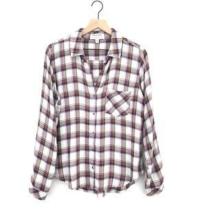 Anthropologie Cloth & Stone Eldorado Plaid Shirt M